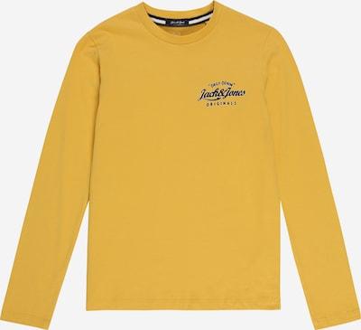 Jack & Jones Junior T-Shirt 'LARS' en moutarde / noir / blanc, Vue avec produit