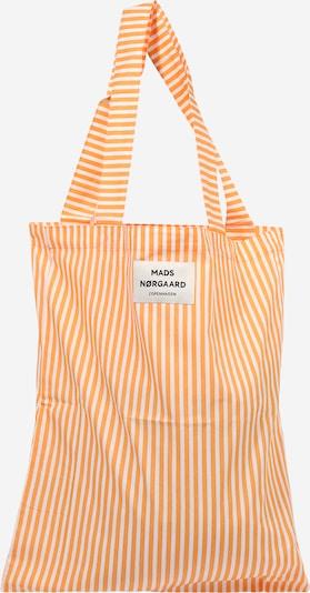 MADS NORGAARD COPENHAGEN Cabas 'Sacky Atoma' en orange clair / blanc cassé, Vue avec produit