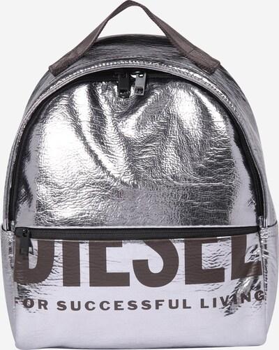 DIESEL Rucksack in dunkelgrau / silber, Produktansicht