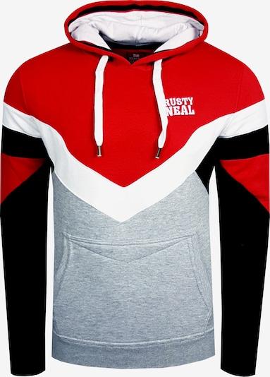 Rusty Neal Kapuzensweatshirt in rot / weiß, Produktansicht