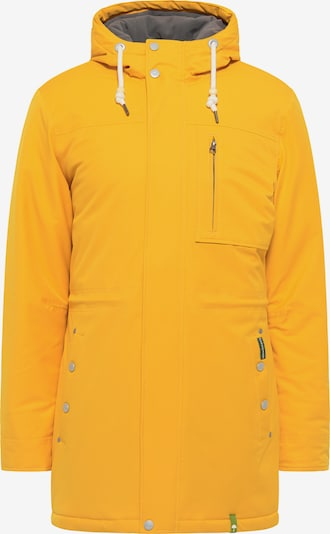 Schmuddelwedda Winterparka in dunkelbraun / gelb, Produktansicht
