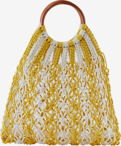 PIECES Handtas in de kleur Geel / Wit, Productweergave