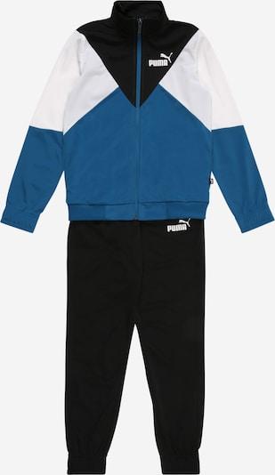 PUMA Trainingsanzug 'Rebel' in blau / schwarz / weiß, Produktansicht