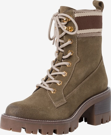 TAMARIS Lace-Up Ankle Boots in Green