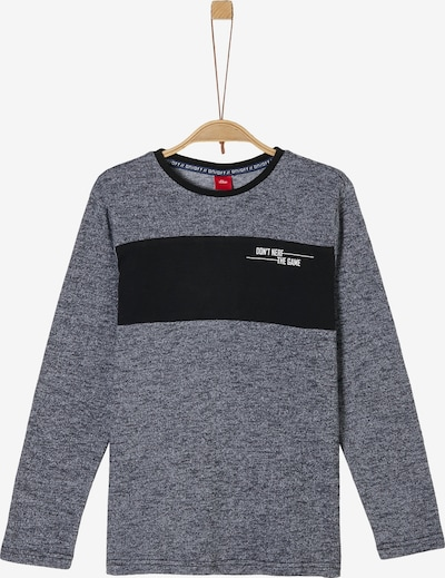 s.Oliver Shirt in grau / schwarz / weiß, Produktansicht