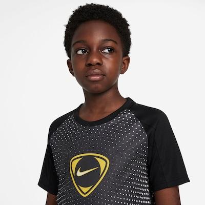 NIKE Sportshirt 'Academy' in gelb / dunkelgrau / schwarz / weiß, Produktansicht