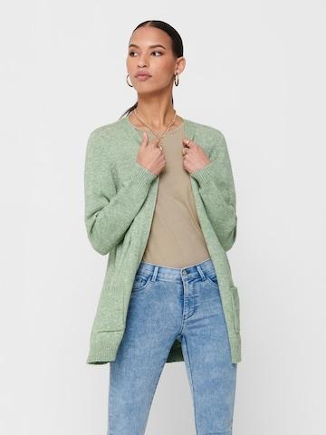 Cardigan 'Lesly' ONLY en vert
