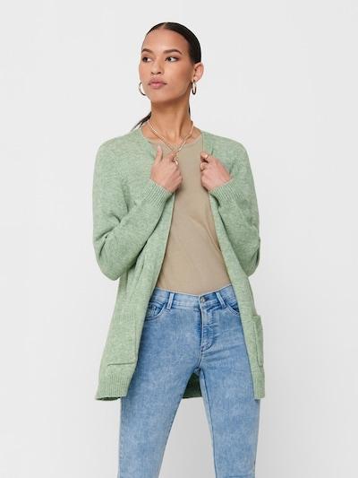 ONLY Gebreid vest 'Lesly' in de kleur Pastelgroen, Modelweergave