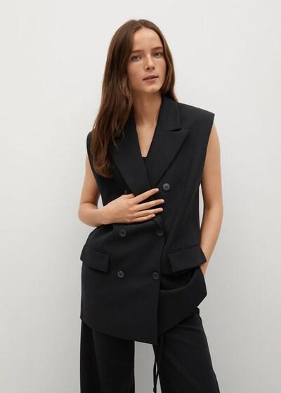 MANGO Weste in schwarz, Modelansicht