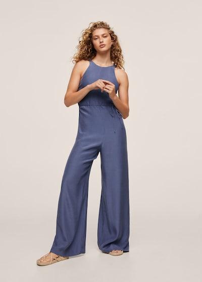 MANGO Jumpsuit in blau, Modelansicht