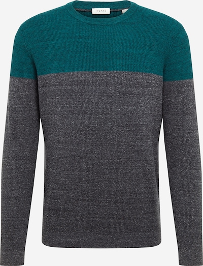 ESPRIT Pullover i mørkegrå / mørkegrøn: Frontvisning