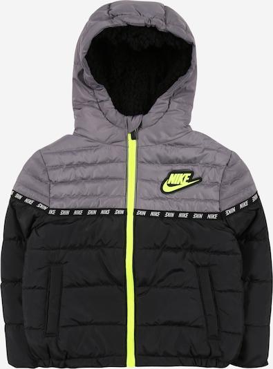 Nike Sportswear Chaqueta de invierno en gris / verde claro / negro, Vista del producto
