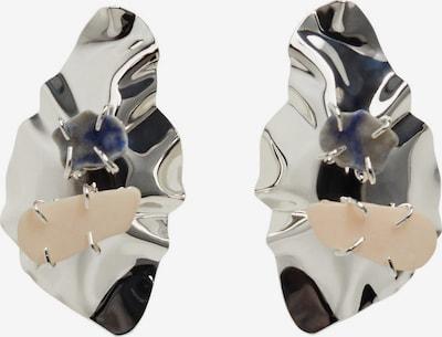 MANGO Náušnice 'LUMIERE' - béžová / tmavosivá / strieborná, Produkt
