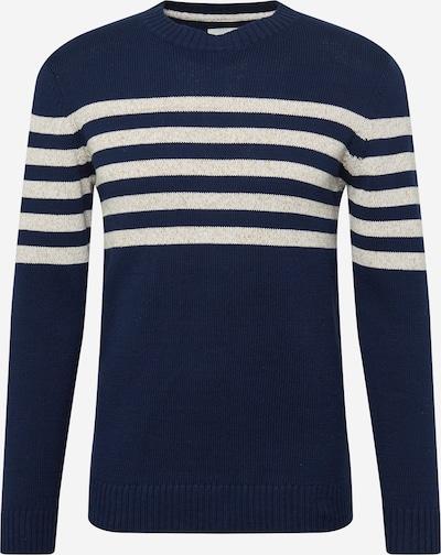 TOM TAILOR Pulover u mornarsko plava / bijela melange, Pregled proizvoda