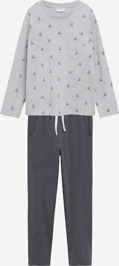 MANGO KIDS Schlafanzug en dunkelgrau / graumeliert, Vue avec produit