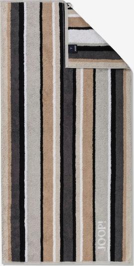 JOOP! Serviette en marron / gris / noir / blanc, Vue avec produit