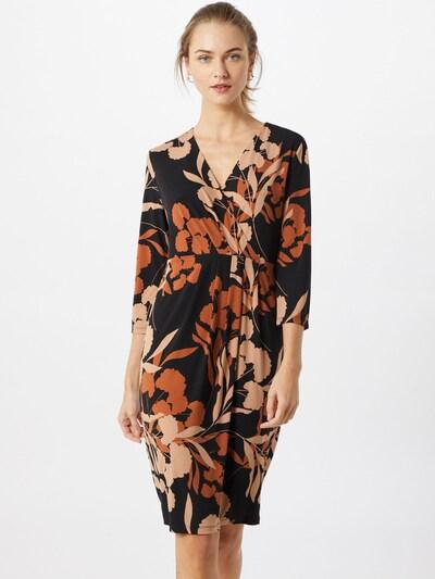 COMMA Kleid in beige / braun / schwarz, Modelansicht
