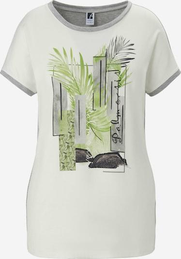 Emilia Lay Shirt in de kleur Beige / Groen / Wit, Productweergave