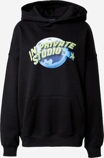 IN PRIVATE Studio Sweatshirt in blau / apfel / schwarz, Produktansicht