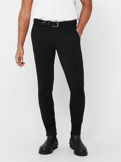 Pantaloni eleganți 'Mark' Only & Sons pe negru, Vizualizare model