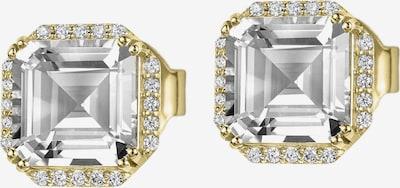 Jacques Lemans Ohrringe in gold / weiß, Produktansicht