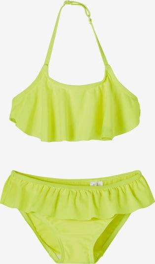 NAME IT Bikini 'Fini' en jaune fluo, Vue avec produit