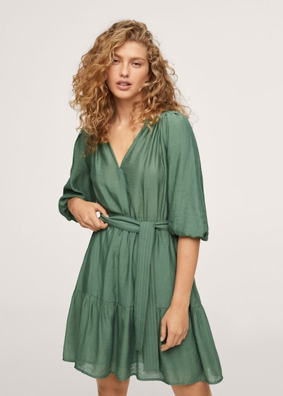 Rochie 'Feroe' MANGO pe verde, Vizualizare model