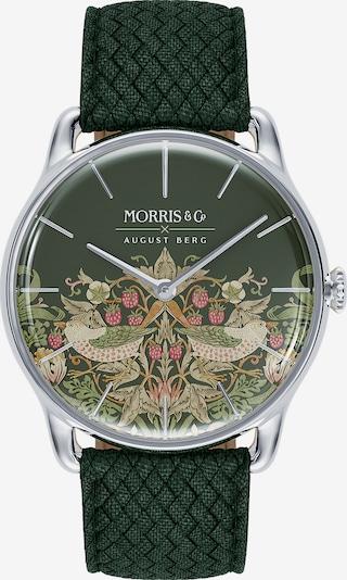 August Berg Uhr 'MORRIS & CO Silver Green Perlon 38mm' in grün, Produktansicht