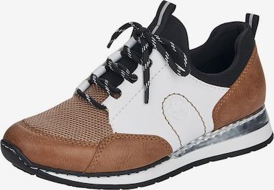 Sneaker low RIEKER pe maro / alb, Vizualizare produs