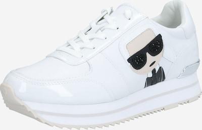 krém / fekete / fehér Karl Lagerfeld Rövid szárú edzőcipők 'VELOCITA II', Termék nézet