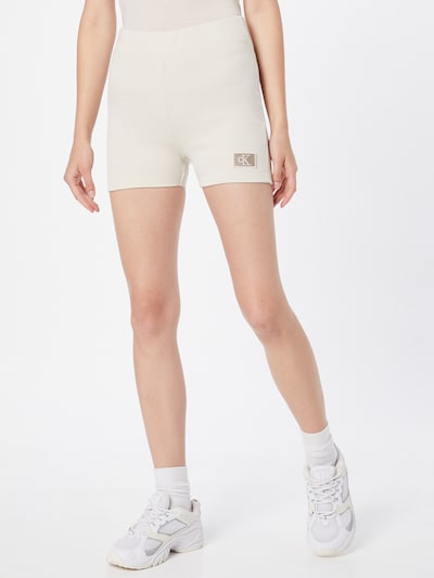 Calvin Klein Jeans Pants 'MILANO' in Egg shell: Frontal view