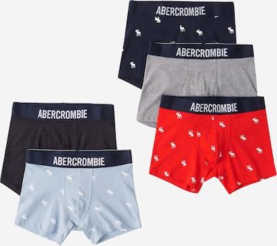 Abercrombie & Fitch Boxershorts in hellblau / graumeliert / rot / schwarz, Produktansicht