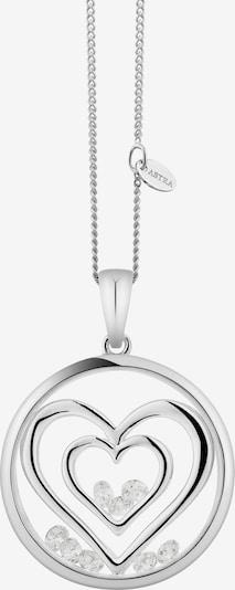 Astra Ketting 'DOUBLE HEART' in de kleur Zilver, Productweergave