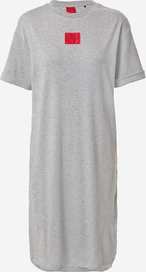HUGO Chemise de nuit 'Neyle' en gris chiné / melon / noir, Vue avec produit