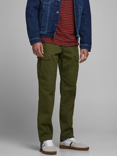 JACK & JONES Cargobroek in de kleur Kaki, Modelweergave
