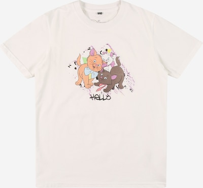 Mister Tee T-Shirt 'Aristocats Hello' en opal / orchidée / corail / noir / blanc, Vue avec produit
