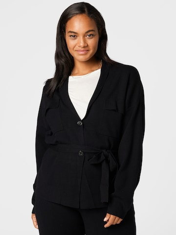 Guido Maria Kretschmer Curvy Collection Knit Cardigan 'Meline' in Black