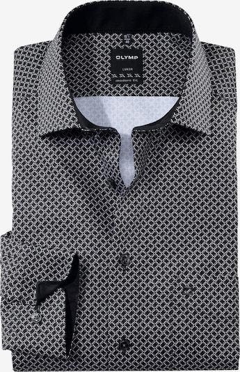 OLYMP Zakelijk overhemd in de kleur Grijs / Zwart / Wit, Productweergave