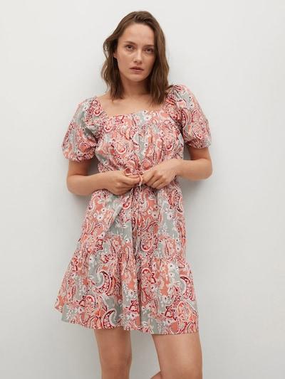 Rochie 'ALMOND' MANGO pe mentă / coral / roşu închis / alb, Vizualizare model