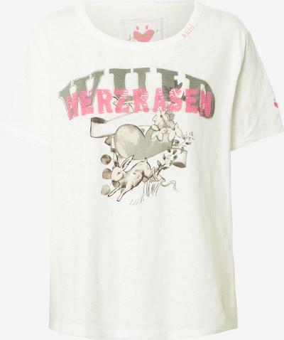 LIEBLINGSSTÜCK Shirt 'Cila' in greige / rosa / weiß, Produktansicht
