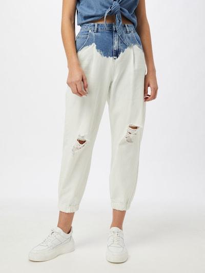 ONLY Jeans in de kleur Blauw denim / Wit, Modelweergave