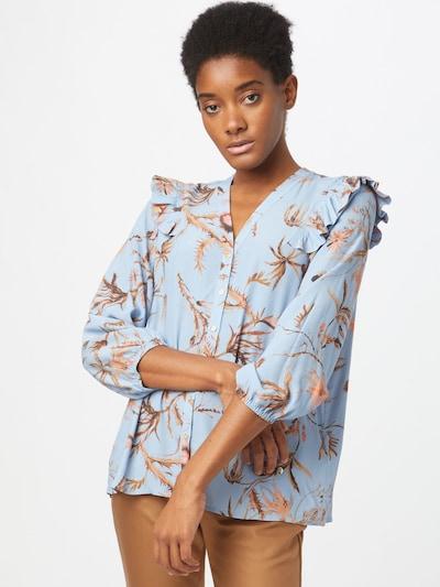 MOS MOSH Blúzka 'Debby Thistle' - modrá / zmiešané farby, Model/-ka