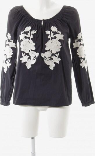Henry Cotton's Schlupf-Bluse in L in dunkelblau / wollweiß, Produktansicht