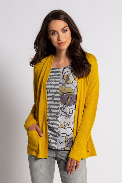 Gina Laura Shirtjacke in gelb, Modelansicht