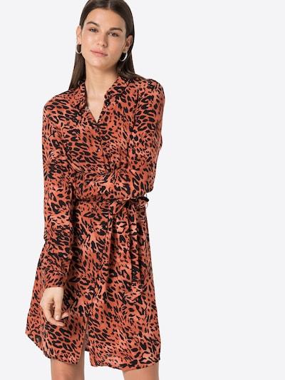 VILA Blousejurk 'Leoa' in de kleur Rosa / Roestrood / Zwart, Modelweergave