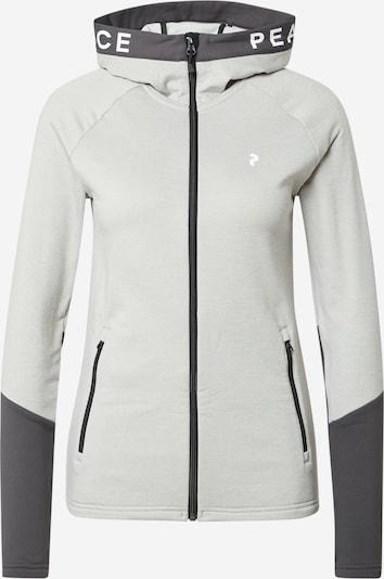PEAK PERFORMANCE Sportovní mikina s kapucí - světle šedá / tmavě šedá / bílá, Produkt