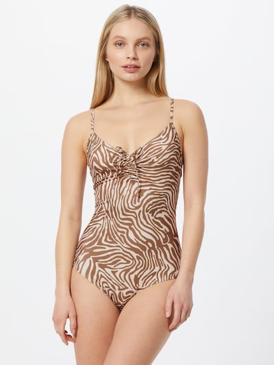 Samsoe Samsoe Swimsuit 'Gytea' in Beige / Brown, View model