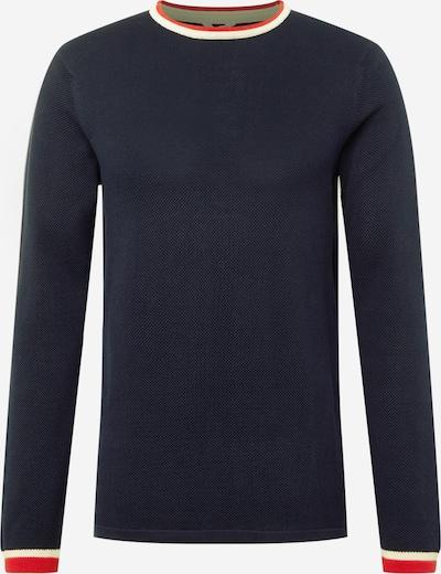 MELAWEAR Pull-over 'NAYAN' en bleu foncé / rouge clair / blanc, Vue avec produit