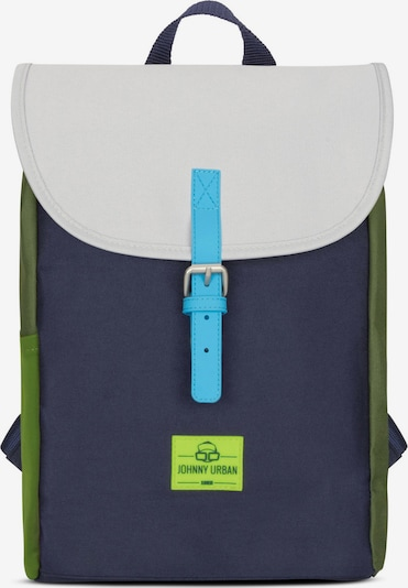 Johnny Urban Backpack 'Liam' in Dark blue / Light grey / Green, Item view