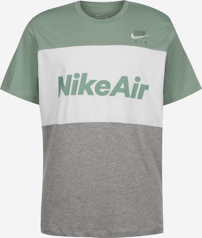 NIKE T-Shirt ' Air ' in grau / grün / weiß, Produktansicht